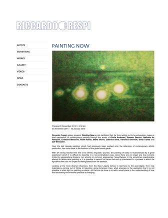 Sinta Tantra: Painting Now at Riccardo Crespi